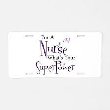 Unique Nurses Aluminum License Plate
