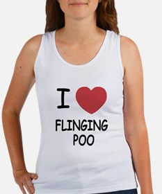I heart flinging poo Women's Tank Top