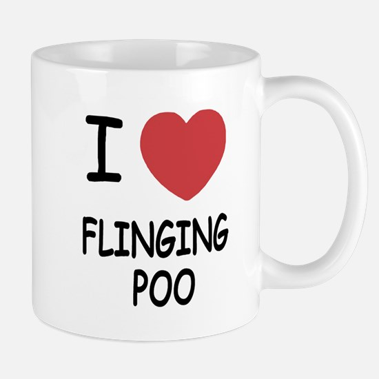 I heart flinging poo Mug