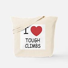 I heart tough climbs Tote Bag