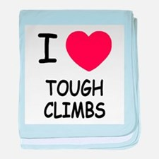 I heart tough climbs baby blanket