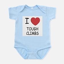 I heart tough climbs Infant Bodysuit