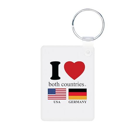 USA-GERMANY Aluminum Photo Keychain