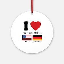 USA-GERMANY Ornament (Round)