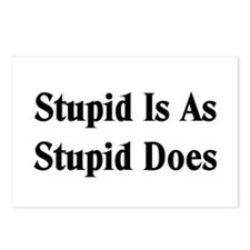 Stupid Is Postcards (Package of 8)