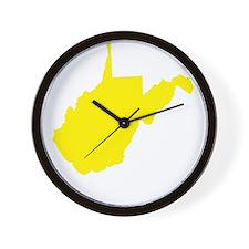 Yellow West Virginia Wall Clock