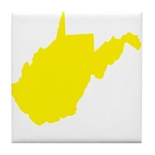 Yellow West Virginia Tile Coaster