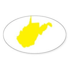 Yellow West Virginia Decal