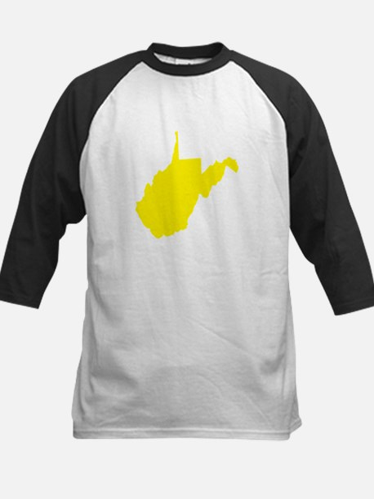 Yellow West Virginia Kids Baseball Jersey