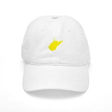Yellow West Virginia Baseball Cap