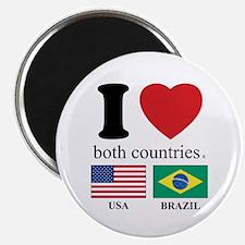 """USA-BRAZIL 2.25"""" Magnet (10 pack)"""