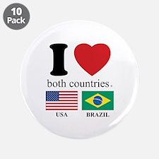 """USA-BRAZIL 3.5"""" Button (10 pack)"""