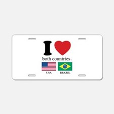USA-BRAZIL Aluminum License Plate