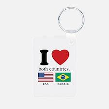 USA-BRAZIL Keychains