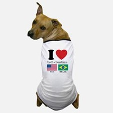 USA-BRAZIL Dog T-Shirt