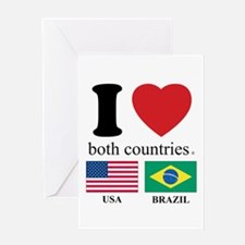 USA-BRAZIL Greeting Card