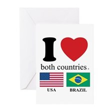 USA-BRAZIL Greeting Cards (Pk of 20)