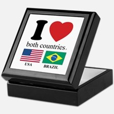 USA-BRAZIL Keepsake Box