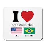 Brazilian usa Mouse Pads