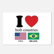 USA-BRAZIL Postcards (Package of 8)