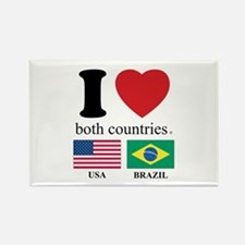 USA-BRAZIL Rectangle Magnet