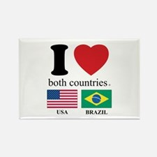 USA-BRAZIL Rectangle Magnet (10 pack)