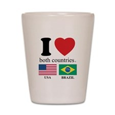USA-BRAZIL Shot Glass