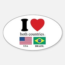 USA-BRAZIL Sticker (Oval)