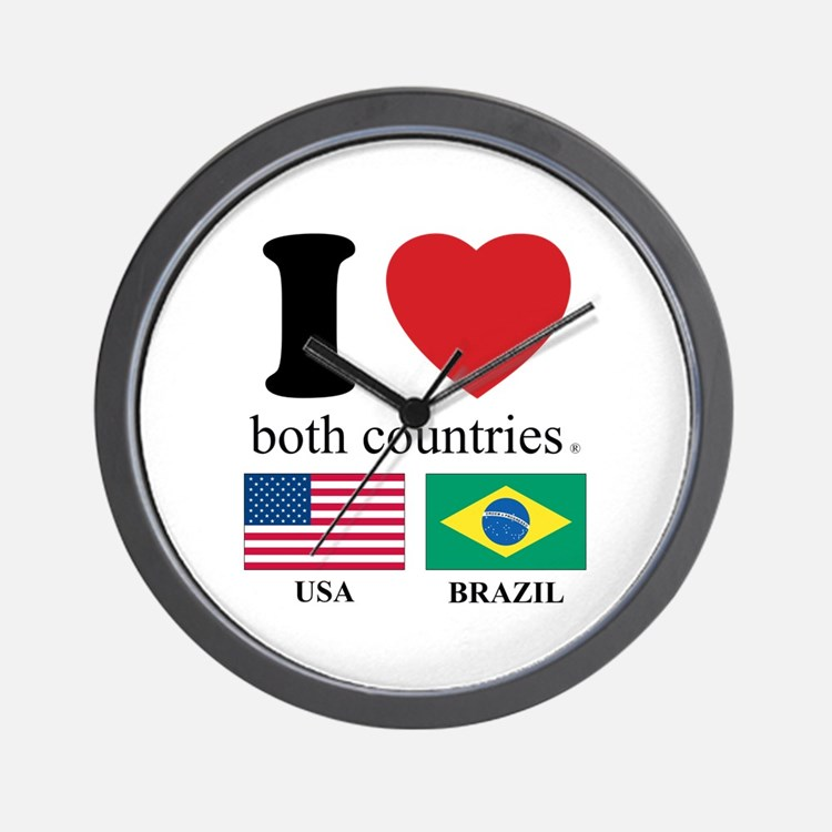 USA-BRAZIL Wall Clock