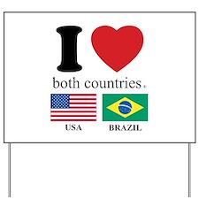 USA-BRAZIL Yard Sign