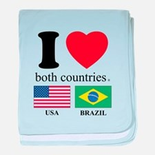 USA-BRAZIL baby blanket