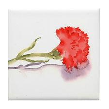 Carnation Tile Coaster