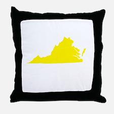 Yellow Virginia Throw Pillow