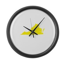Yellow Virginia Large Wall Clock