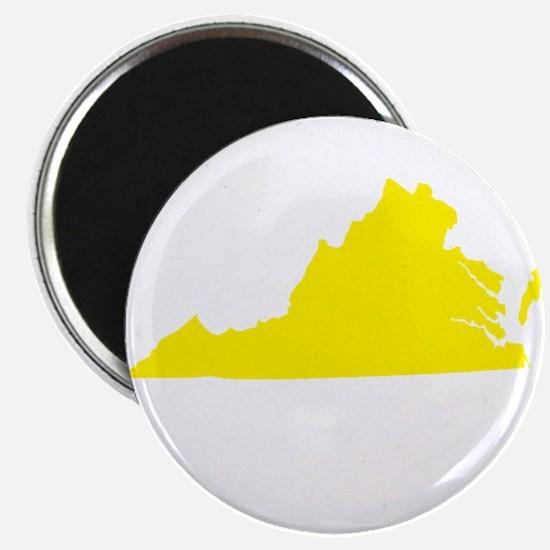 "Yellow Virginia 2.25"" Magnet (10 pack)"
