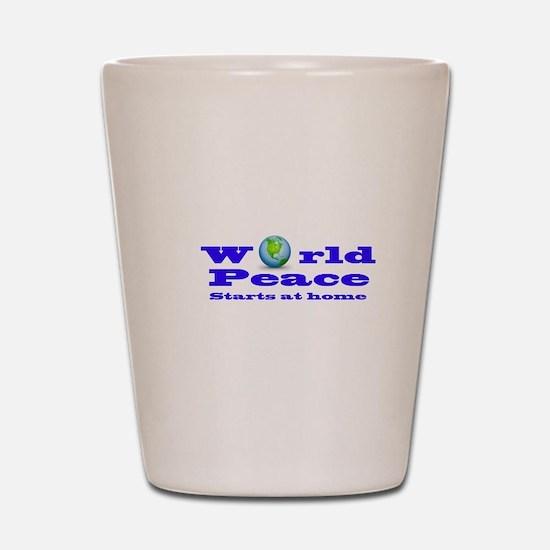 World Peace Shot Glass