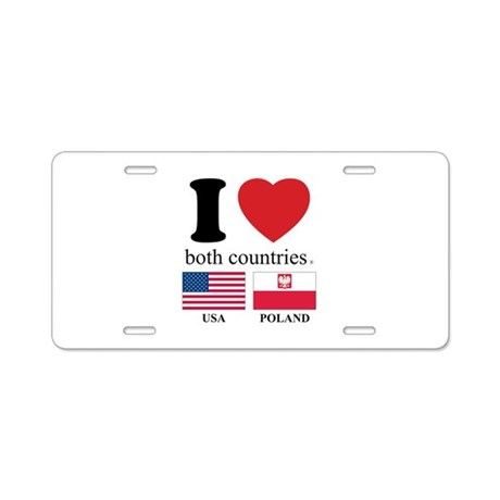 USA-POLAND Aluminum License Plate