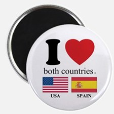 """USA-SPAIN 2.25"""" Magnet (10 pack)"""