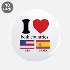 """USA-SPAIN 3.5"""" Button (10 pack)"""
