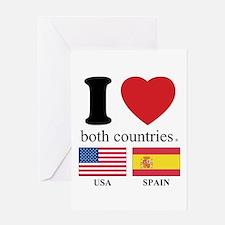 USA-SPAIN Greeting Card