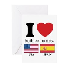 USA-SPAIN Greeting Cards (Pk of 20)