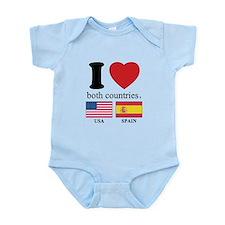 USA-SPAIN Infant Bodysuit