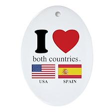 USA-SPAIN Ornament (Oval)