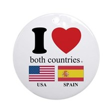 USA-SPAIN Ornament (Round)
