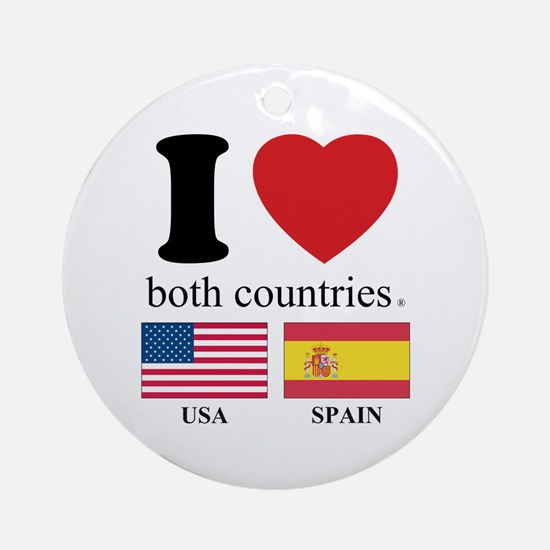 USA-SPAIN Ornament (Round)