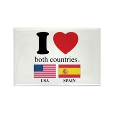 USA-SPAIN Rectangle Magnet (100 pack)