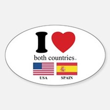 USA-SPAIN Sticker (Oval)
