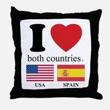 USA-SPAIN Throw Pillow