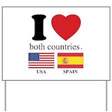 USA-SPAIN Yard Sign