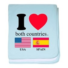 USA-SPAIN baby blanket